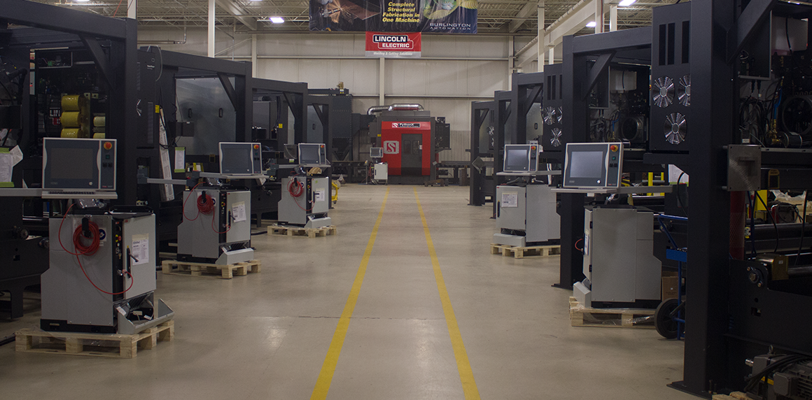Plasma cutting system integration is a core capability of Burlington Automation